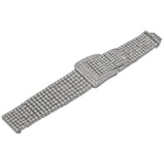 50 Carat Platinum Diamond Buckle Bracelet