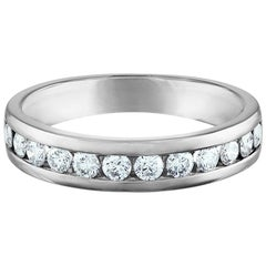 .50 Carat Platinum, Round Diamond Channel Set Ring
