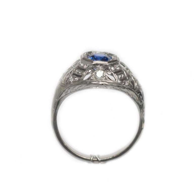 .50 Carat Sapphire Platinum Engagement Ring For Sale 1