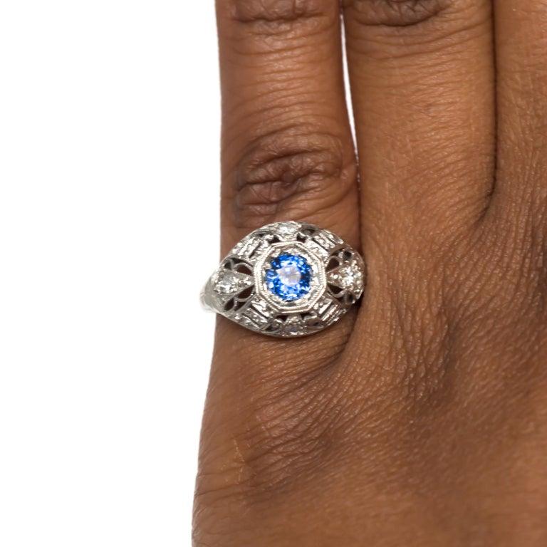 .50 Carat Sapphire Platinum Engagement Ring For Sale 2