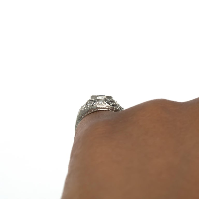 .50 Carat Sapphire Platinum Engagement Ring For Sale 4
