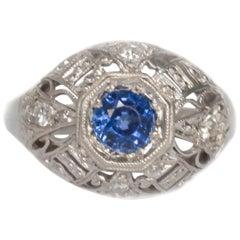 .50 Carat Sapphire Platinum Engagement Ring