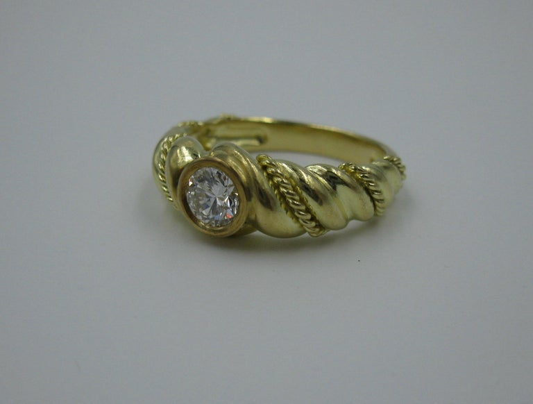 .50 Carat Tiffany & Co. Diamond Ring Engagement Ring E Color 18 Karat Gold For Sale 5