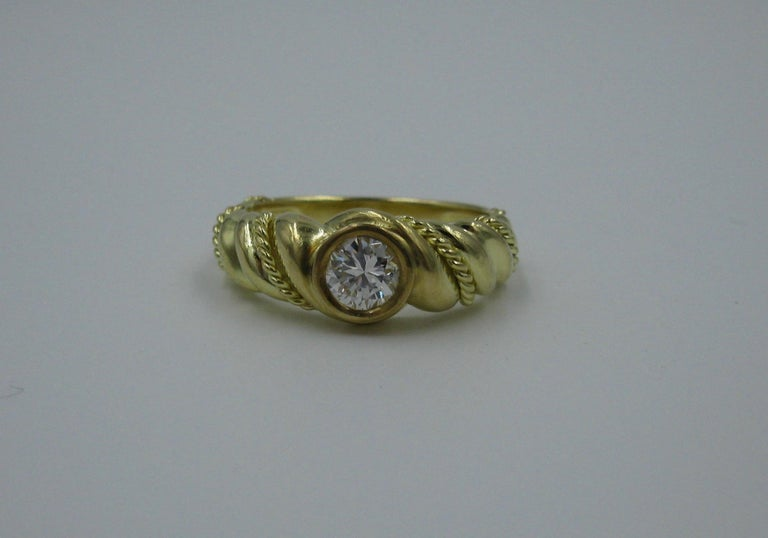 .50 Carat Tiffany & Co. Diamond Ring Engagement Ring E Color 18 Karat Gold For Sale 6