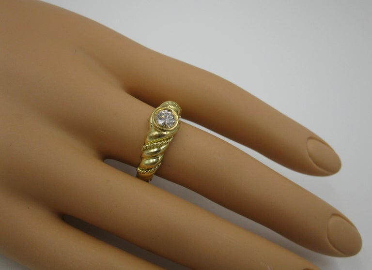 .50 Carat Tiffany & Co. Diamond Ring Engagement Ring E Color 18 Karat Gold In Good Condition For Sale In New York, NY