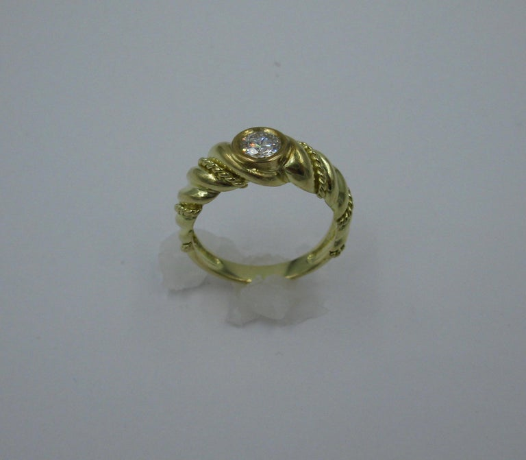 .50 Carat Tiffany & Co. Diamond Ring Engagement Ring E Color 18 Karat Gold For Sale 1