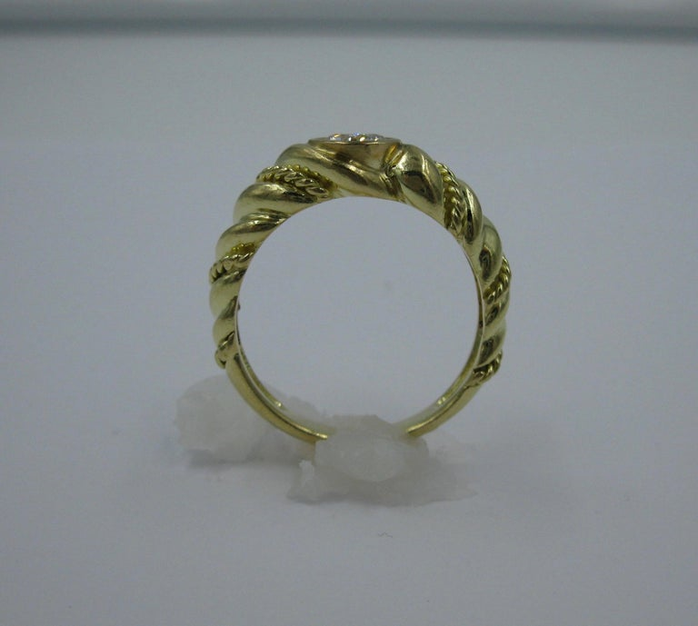 .50 Carat Tiffany & Co. Diamond Ring Engagement Ring E Color 18 Karat Gold For Sale 2
