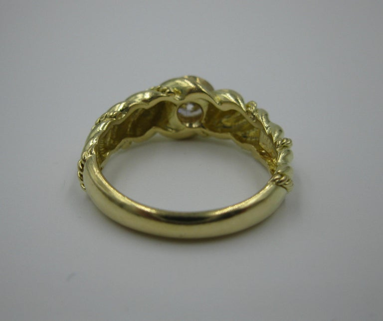 .50 Carat Tiffany & Co. Diamond Ring Engagement Ring E Color 18 Karat Gold For Sale 3