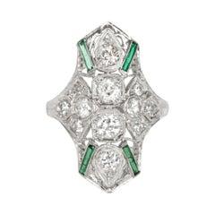 .50 Carat Total Weight Diamond Platinum Engagement Ring