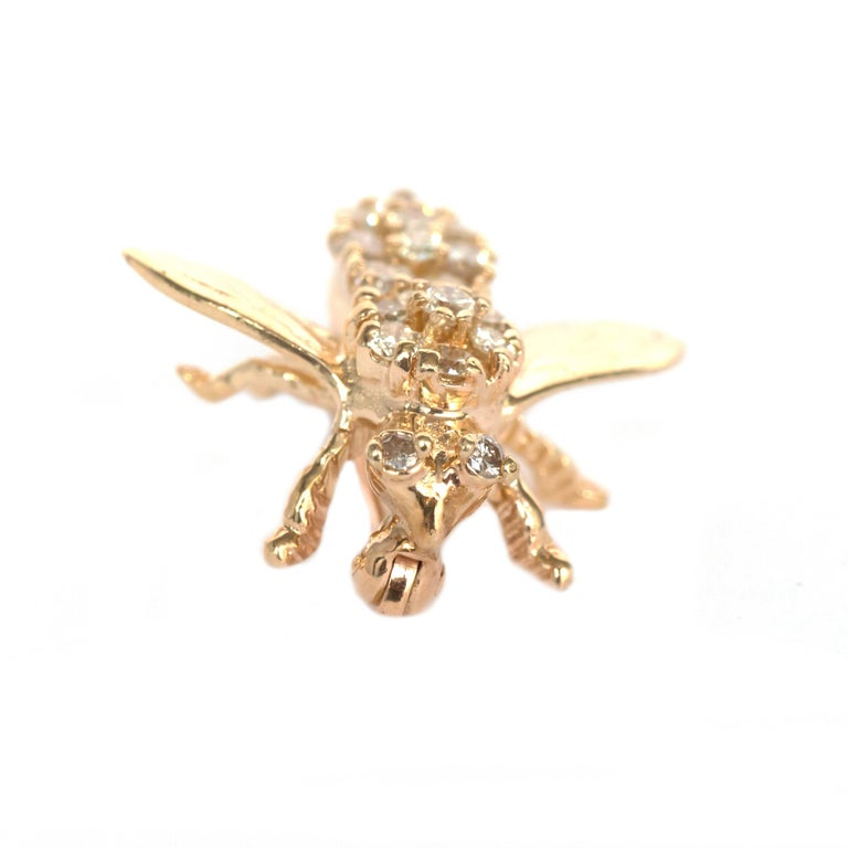 Metal Type: 14 karat Yellow Gold [Tested] Weight:  2.4 grams  Stone Details: Type: Diamond Weight: .50 carat, total weight Cut: Round Brilliant Color: G-H Clarity: VS  Condition:  Excellent