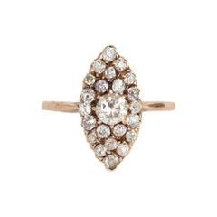 .50 Carat Total Weight Diamond Yellow Gold Engagement Ring