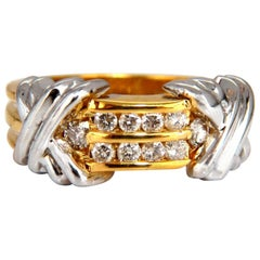 ".50 Carat ""X"" Channel Diamonds Ring 14 Karat"