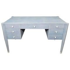 "50% Deposit for Custom Blue Shagreen and Bone Desk in 60"" W, Elizabeth Mallon"