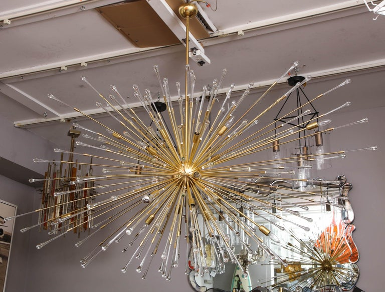 Customgiant glass teardrop sputnik chandelier in 102