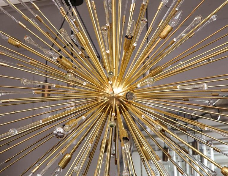 Mid-Century Modern (50% Deposit) Giant Glass Teardrop Sputnik Chandelier, 1 of 2 For Sale