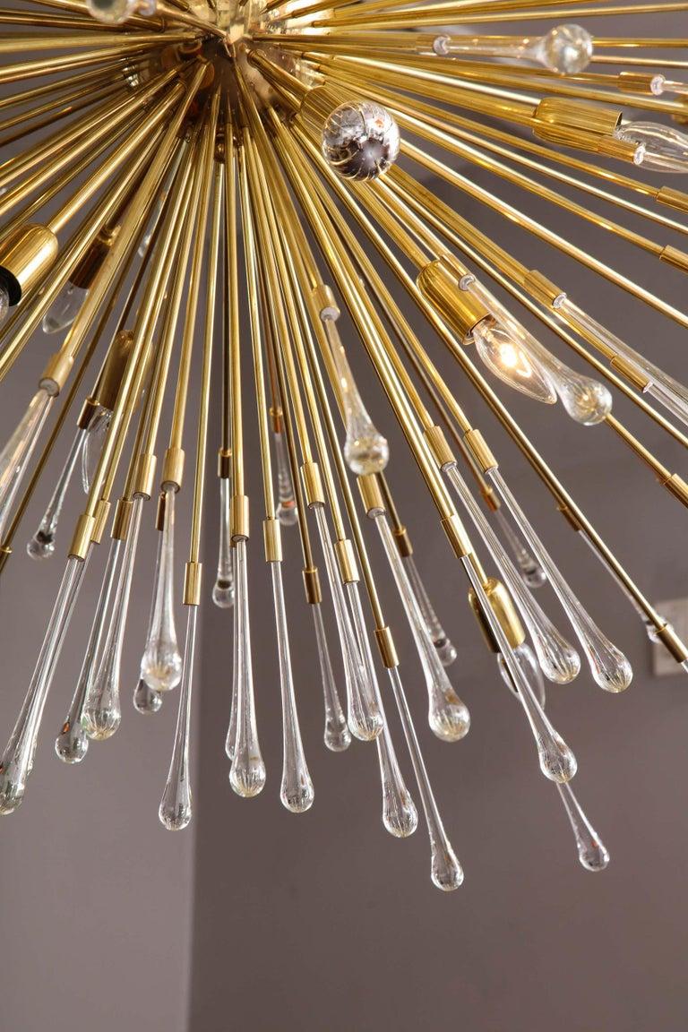 (50% Deposit) Giant Glass Teardrop Sputnik Chandelier, 1 of 2 In New Condition For Sale In New York, NY