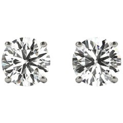 5.0 Total Carat Weight Apprx Diamond Earring Studs White Gold, Ben Dannie