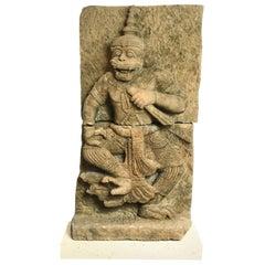 500-600 Year-Old Sandstone Sculpture of Hanuman, The Monkey God