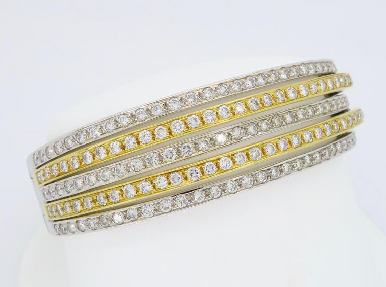 5.00 Carat Diamond Bangle Bracelet For Sale 5