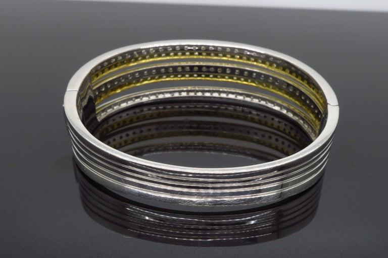 5.00 Carat Diamond Bangle Bracelet For Sale 2