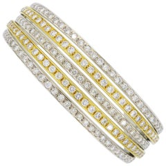 5.00 Carat Diamond Bangle Bracelet