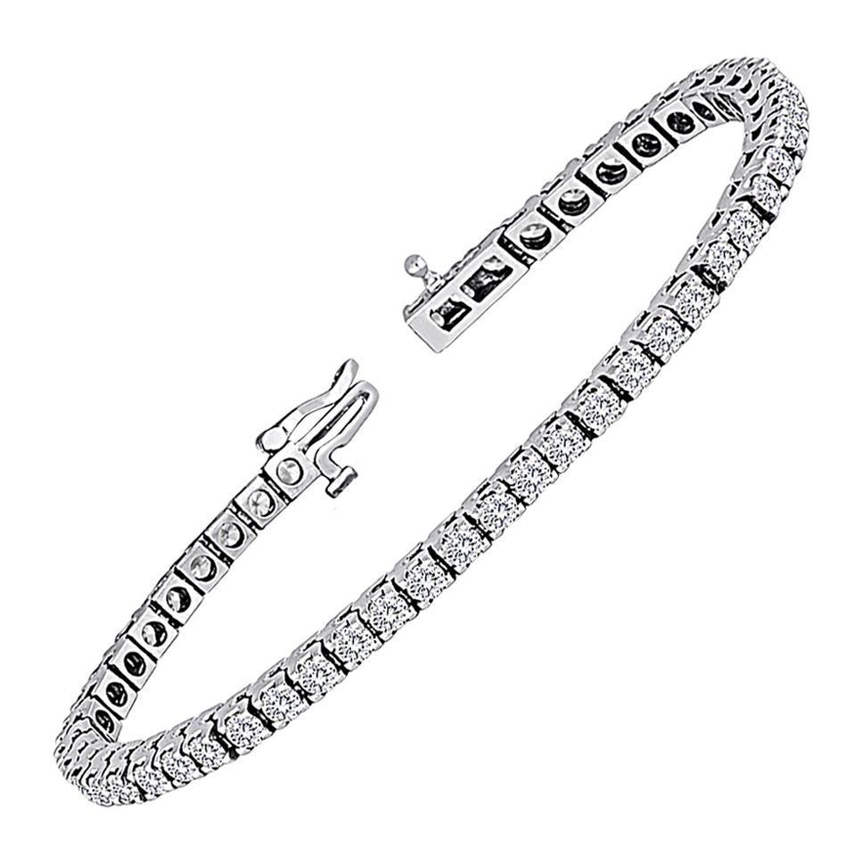 5.00 Carat Diamond Gold Tennis Bracelet