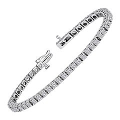 5.00 Carat Diamond Gold Tennis Bracelet