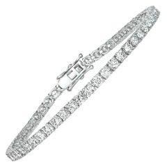 5.00 Carat Natural Diamond Tennis Bracelet G SI 14 Karat White Gold
