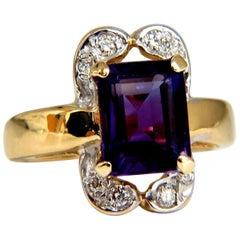 5.00 Carat Natural Purple Amethyst Ring 14 Karat