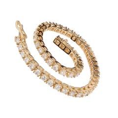5.00 Carat Round Diamond Gold Tennis Bracelet