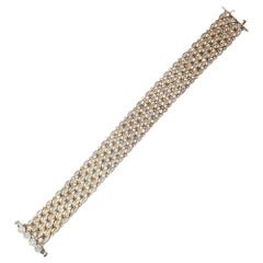 5.01 Carat Diamond Bracelet 14 Karat Two-Tone Gold