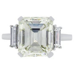 5.01 Carat Emerald Cut Diamond Engagement Ring