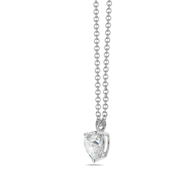 5.01 Carat GIA Certified Diamond Heart Pendant Necklace In New Condition For Sale In New York, NY