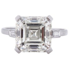 5.02 Carat Ascher Cut Diamond Ring