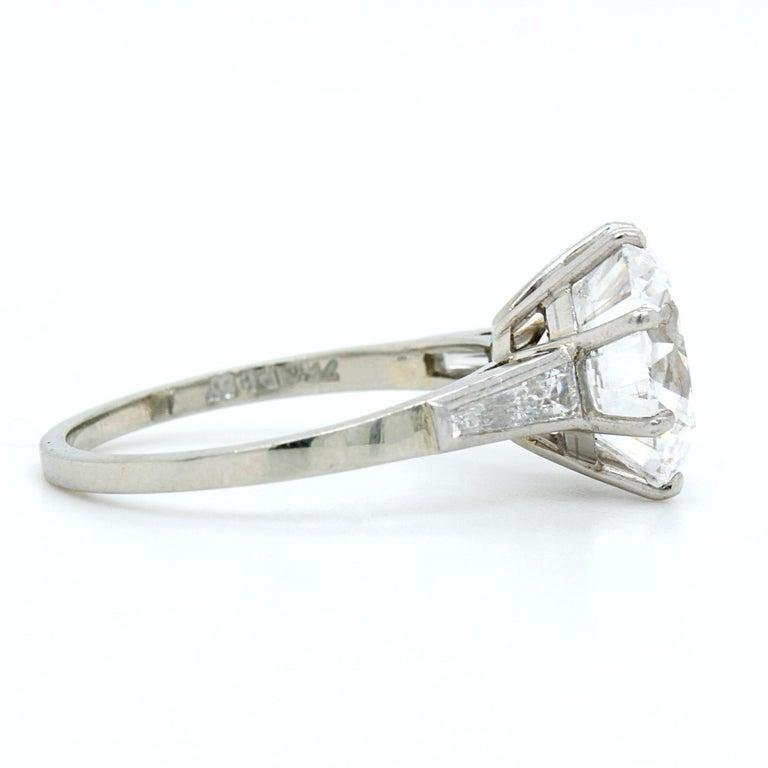 5.02 Carat D-VVS1, GIA, Diamond Solitaire Ring In Excellent Condition For Sale In Idar-Oberstein, DE