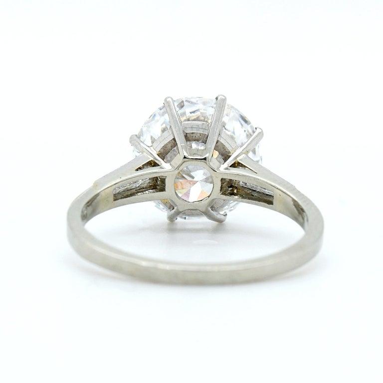 Women's 5.02 Carat D-VVS1, GIA, Diamond Solitaire Ring For Sale