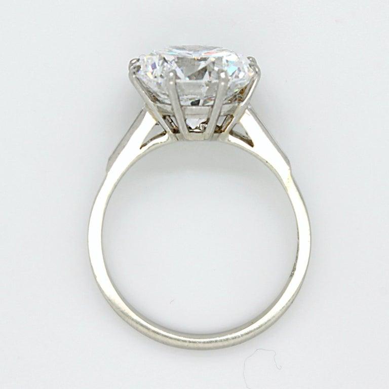5.02 Carat D-VVS1, GIA, Diamond Solitaire Ring For Sale 1