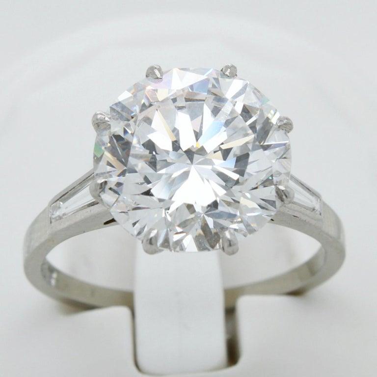 5.02 Carat D-VVS1, GIA, Diamond Solitaire Ring For Sale 2