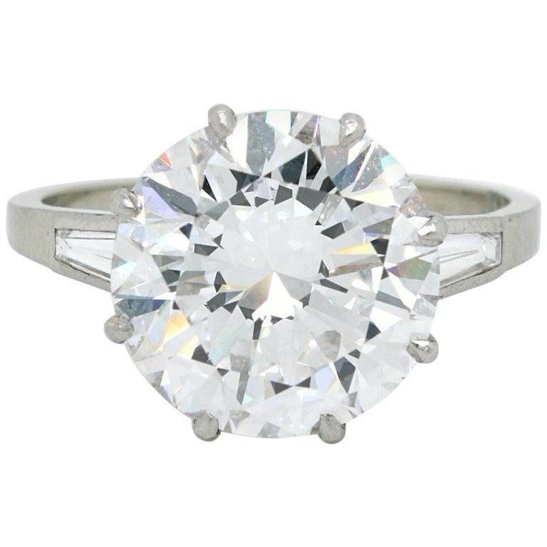 5.02 Carat D-VVS1, GIA, Diamond Solitaire Ring For Sale