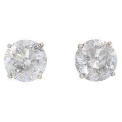 5.02 Carat Diamond Stud Earrings