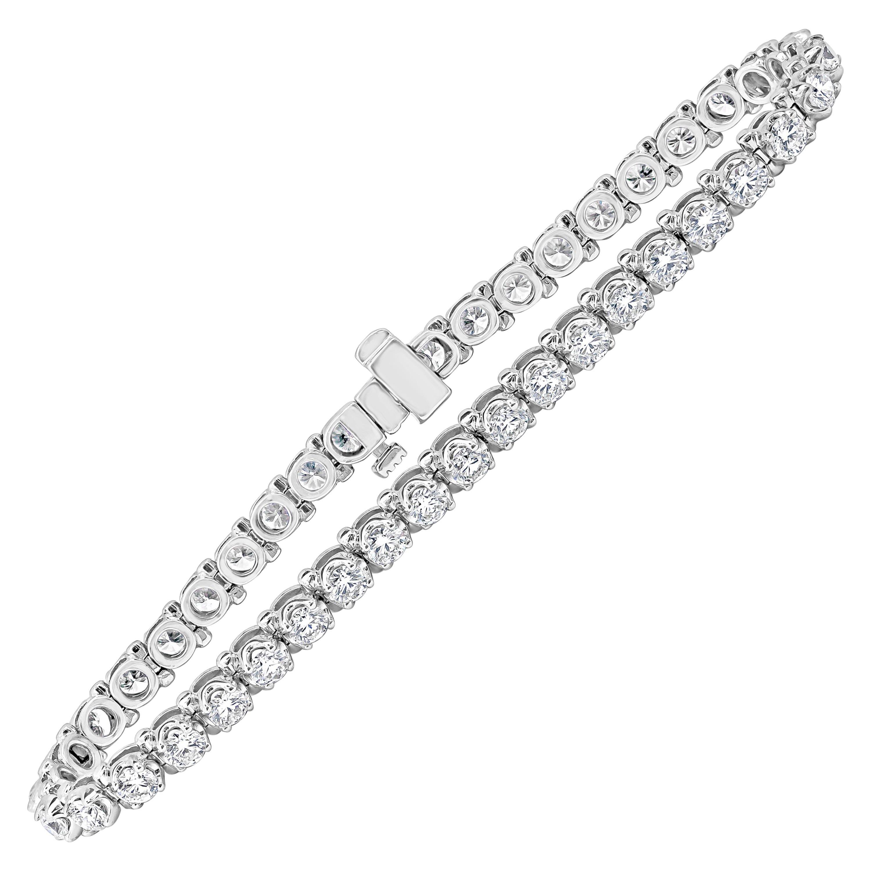 Roman Malakov 5.03 Carat Round Diamond Tennis Bracelet