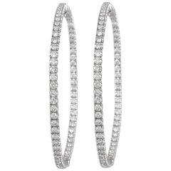 Alexander 5.04 Carat Diamond Hoop Earrings White Gold