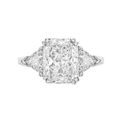 5.04 Carat Radiant-Cut Diamond Ring 'D/VVS2'