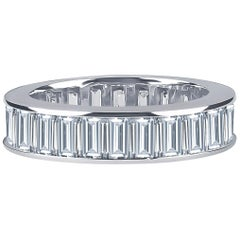 5.05 Carat of Baguette Diamonds Set in a Channel Eternity Band