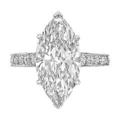 5.06ct Marquise-Cut Diamond Ring 'D/VVS1'