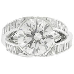5.07 Carat GIA Certified Round Brilliant Diamond Engagement Ring