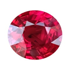 5,07 Carat Natural Mozambique Vivid Red Natural Ruby GRS Certificate