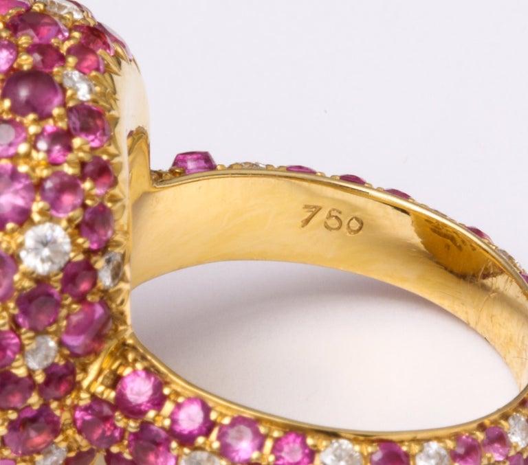 Modern 5.08 Carat Intense Yellow Diamond Ring For Sale