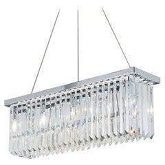 5080/S T1 Crystal Drop Oblong Pendant Light
