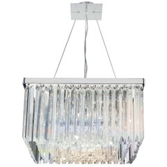 5081/S80 T1 Crystal Drop Square Pendant Light
